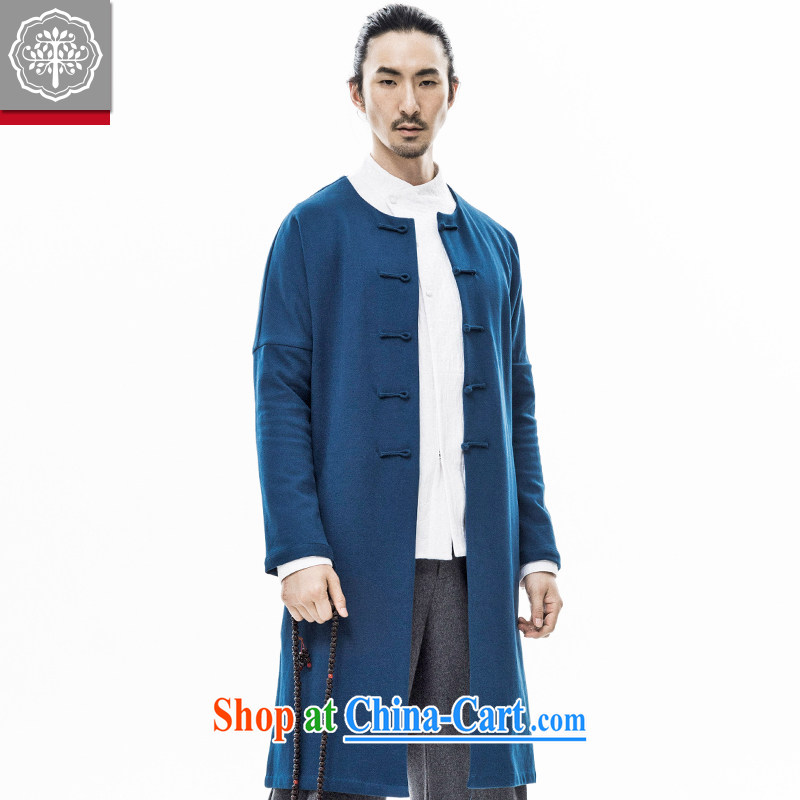 2015 fall/winter new paragraph tree Chinese men and Han-improved autumn tides, long coats, Chinese jacket men and Chinese Wind and Zeng Peiyan color 185/XXL, tree (EYENSREE), shopping on the Internet