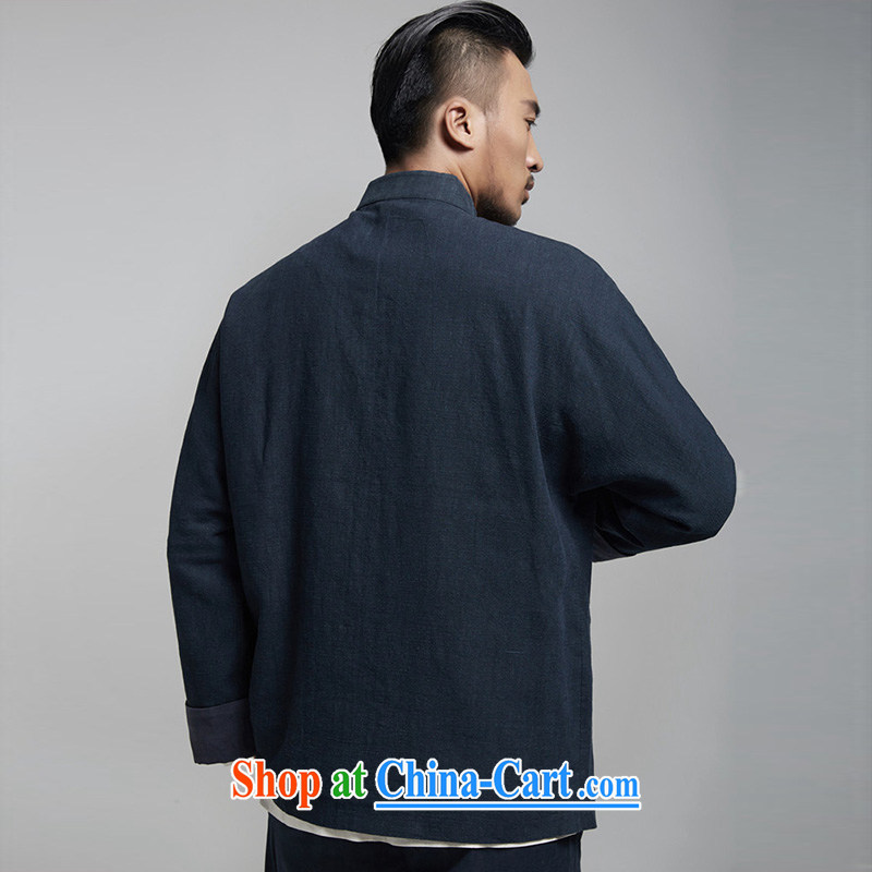 Wind, The 1000 pure Chinese double-shoulder tang on the 2015 autumn jacket embroidery and the high-end comfort and original Chinese Wind and dark blue 50/180, the church, and, on-line shopping
