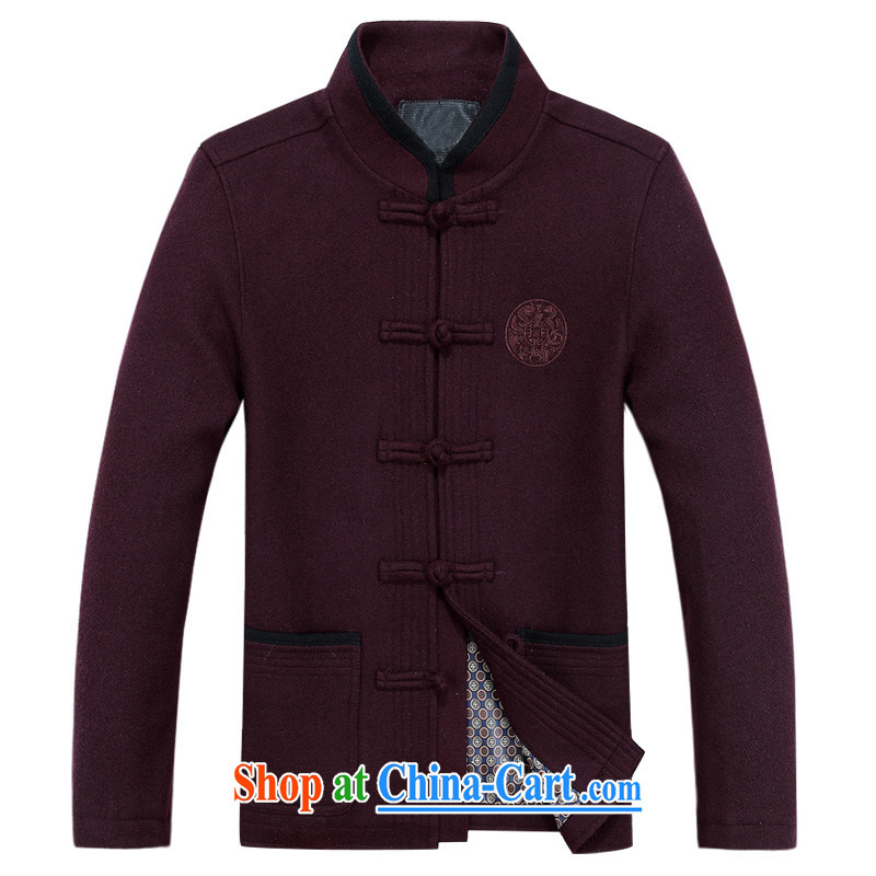 The chestnut mouse and spring, BOK-su Tang long-sleeve T-shirt with the old Bok-su Tang jackets T-shirt ethnic wind men's Chinese, led the charge-back Bok-su Tang mounted Uhlans on XXXL