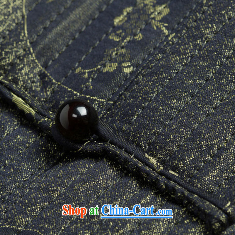 Stakeholders line cloud Tang with autumn and winter with thick quilted coat cotton suit Chinese improved Chinese T-shirt, old 鑵婃 orchids flower DYD - 14,018 deep red 4 XL stakeholders, the cloud (YouThinking), and, on-line shopping