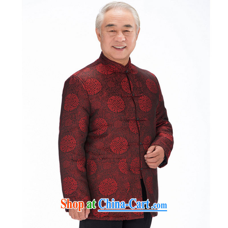 Stakeholders line cloud old men Tang jackets older persons Tang is large, thick Chinese parka brigades