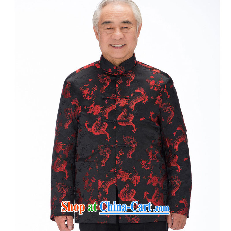 Stakeholders line cloud men's winter and cotton Chinese dragon Long-Sleeve manual tray for improved cultural China Clothing cotton clothing DYA 1211 black XXXL stakeholders, the cloud (YouThinking), and, on-line shopping