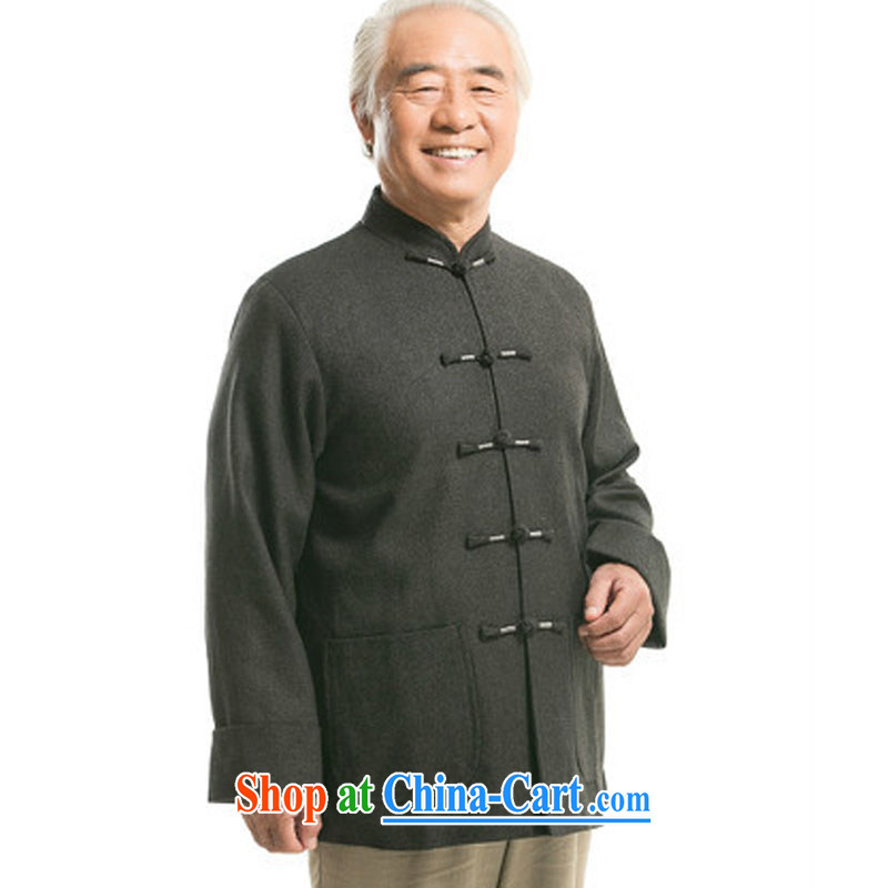 The stakeholders in the Cloud old men long-sleeved Chinese Chinese T-shirt older persons coat hair is male DY 9821 dark gray XXXL stakeholders, the cloud (YouThinking), and, on-line shopping