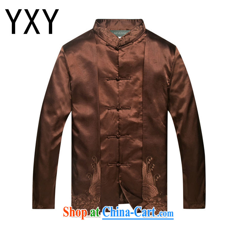 Stakeholders line cloud Chinese clothing Chinese Dress at DY 7712 brown XXL
