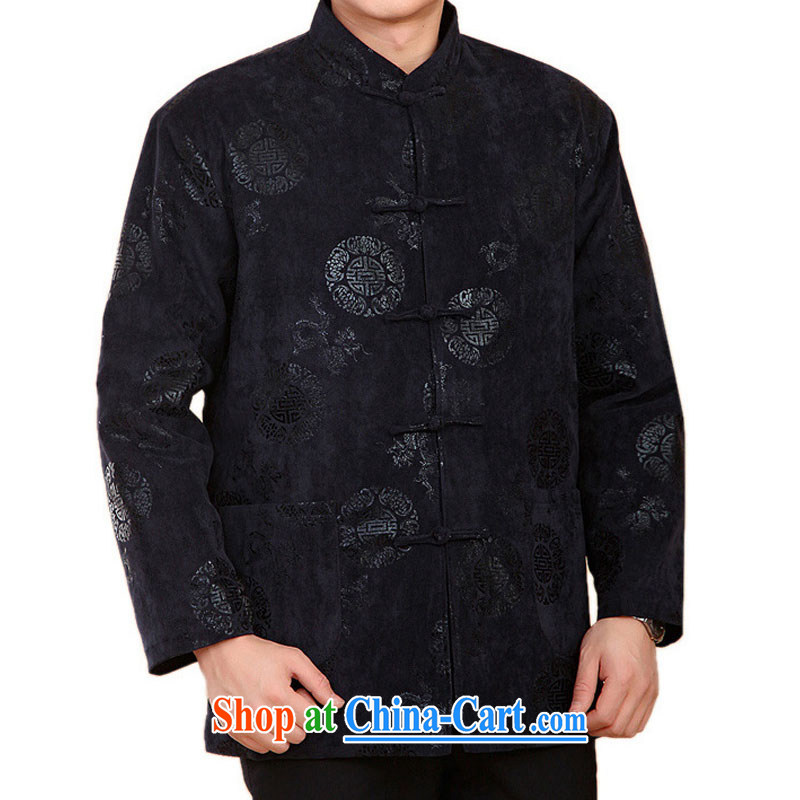 Stakeholders line cloud Chinese leisure old men long-sleeved Tang is thick with cotton winter jackets DY 2060 blue XXXL stakeholders, the cloud (YouThinking), and, on-line shopping