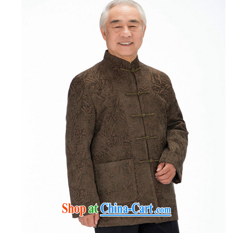 Stakeholders line cloud Tang is joining the older upscale Chinese men's old men Chinese-tie, collar DY 1455 tea-colored XXXL stakeholders, the cloud (YouThinking), and, on-line shopping
