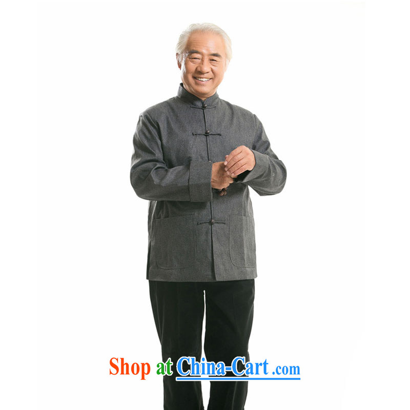 Stakeholders line cloud Chinese men's long-sleeved, older Chinese Han-happy father upscale jacket DY 1361 gray XXXL stakeholders, the cloud (YouThinking), and, on-line shopping