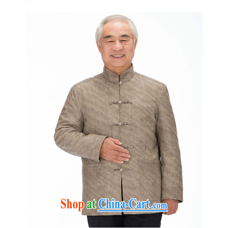 Stakeholders line cloud Chinese improved Korean Ma ribbed men washable leather Chinese elderly in leisure PU jacket DY 1322 khaki-colored XXXL stakeholders, the cloud (YouThinking), and, on-line shopping