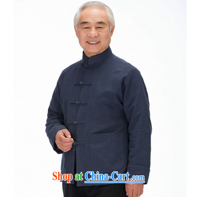 Line-of-long-sleeved Chinese leisure old men long-sleeved Tang with thick winter jackets DY 1320 blue聽XXXL stakeholders, the cloud (YouThinking), and, on-line shopping