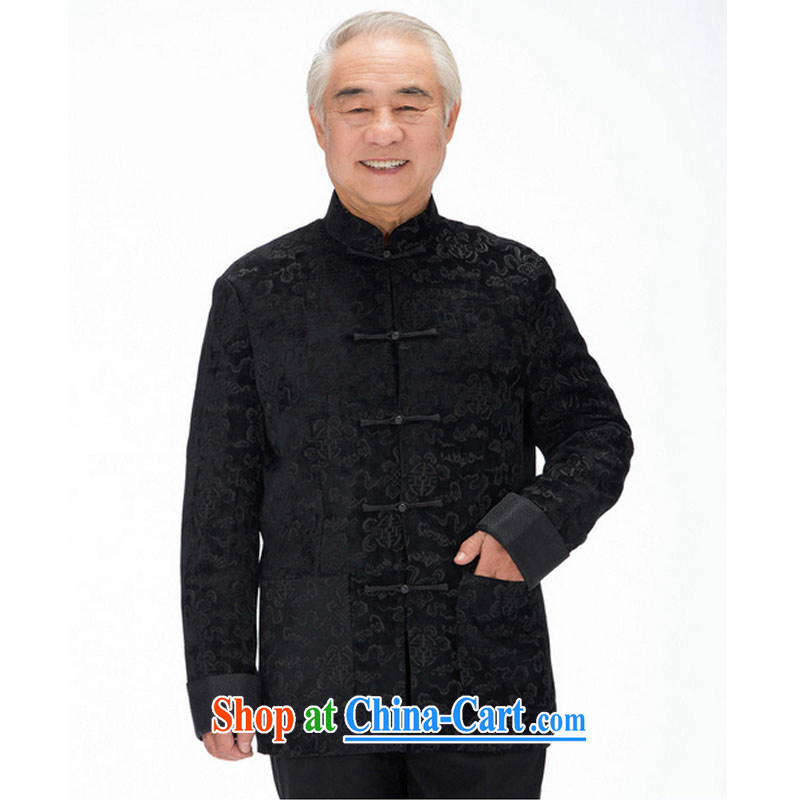 The stakeholders in the Cloud old men sauna silk Tang replace leisure thick long-sleeved Tang replace Xiangyun ethnic wind men's Chinese jacket DY 1316 black XXXL stakeholders, the cloud (YouThinking), and, on-line shopping