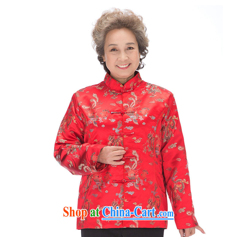 Stakeholders line cloud fall and winter men and women quilted Chinese phoenix Mom and Dad golden coat, older couples with DY 0876 women red XXXL stakeholders, the cloud (YouThinking), and, on-line shopping