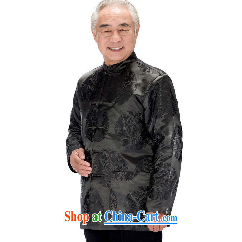 Stakeholders line cloud Tang with long-sleeved jacket Chinese double-lung of Serb with the snap-cotton clothing, older men and jacket Winter load DY 0758 gray XXXL stakeholders, the cloud (YouThinking), and, on-line shopping