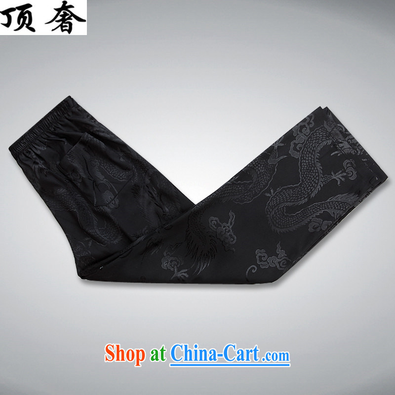 Top Luxury men's Chinese shirt Chinese men's long-sleeved Kit China wind spring loaded loose version of package-tie, for Chinese Han-exercise clothing Black Kit XXXL/190, and with the top luxury, shopping on the Internet