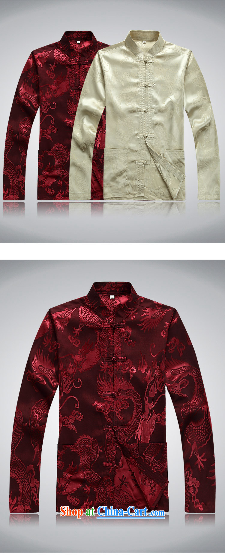 Top Luxury men's Chinese shirt Chinese men's long-sleeved Kit China wind spring loaded loose Edition black men and set the snap, for Chinese Han-serving practitioners black XXXL/190 pictures, price, brand platters! Elections are good character, the national distribution, so why buy now enjoy more preferential! Health
