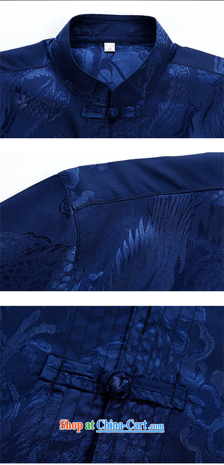 Top Luxury men's Chinese shirt Chinese men's long-sleeved Kit China wind spring loaded loose Edition black men and set the snap, for Chinese Han-exercise clothing Blue Kit XXXL/190 pictures, price, brand platters! Elections are good character, the national distribution, so why buy now enjoy more preferential! Health
