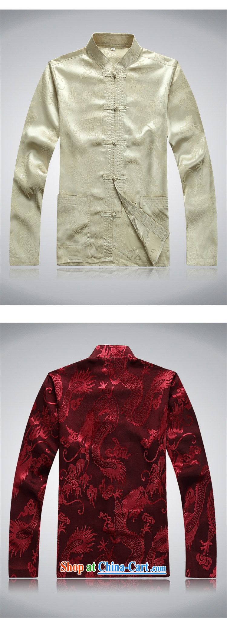 Top Luxury men's Chinese shirt Chinese men's long-sleeved Kit China wind spring loaded loose version of package men's disc buckle, for Chinese Han-exercise clothing white package XXXL/190 pictures, price, brand platters! Elections are good character, the national distribution, so why buy now enjoy more preferential! Health