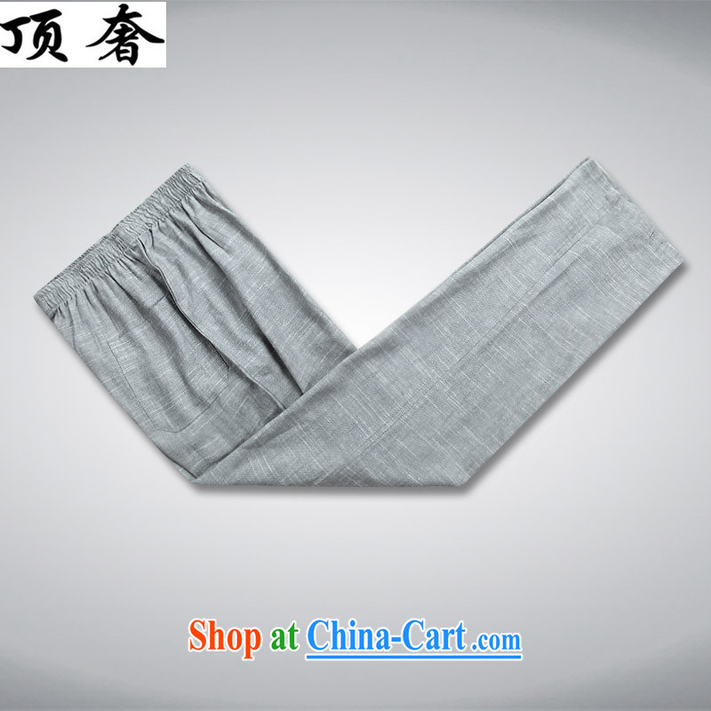 Top Luxury spring/summer men's cotton the Chinese men's fall, long-sleeved clothing middle-aged father older persons with Mr Henry TANG Chinese men and replace the clip, for Chinese Kit gray package XL/180, with the top luxury, shopping on the Internet