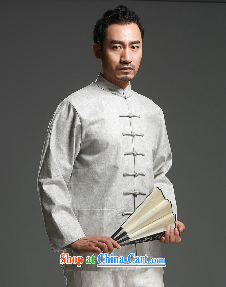 Internationally renowned New China Chinese long-sleeved men's Spring and Autumn and the Chinese men's long-sleeved-buckle Tang mounted units the jacket yellow jumbo (2XL) pictures, price, brand platters! Elections are good character, the national distribution, so why buy now enjoy more preferential! Health