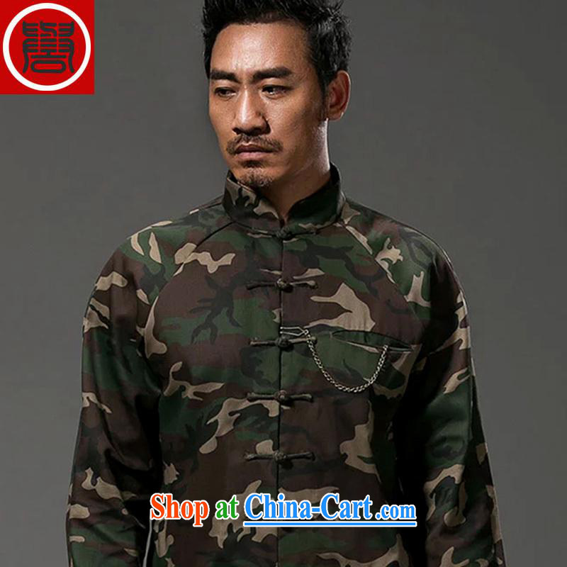 Internationally renowned Chinese wind-Sau San Tong with men's long-sleeved Chinese cotton the legislative style is withholding personality jacket color jumbo XXL