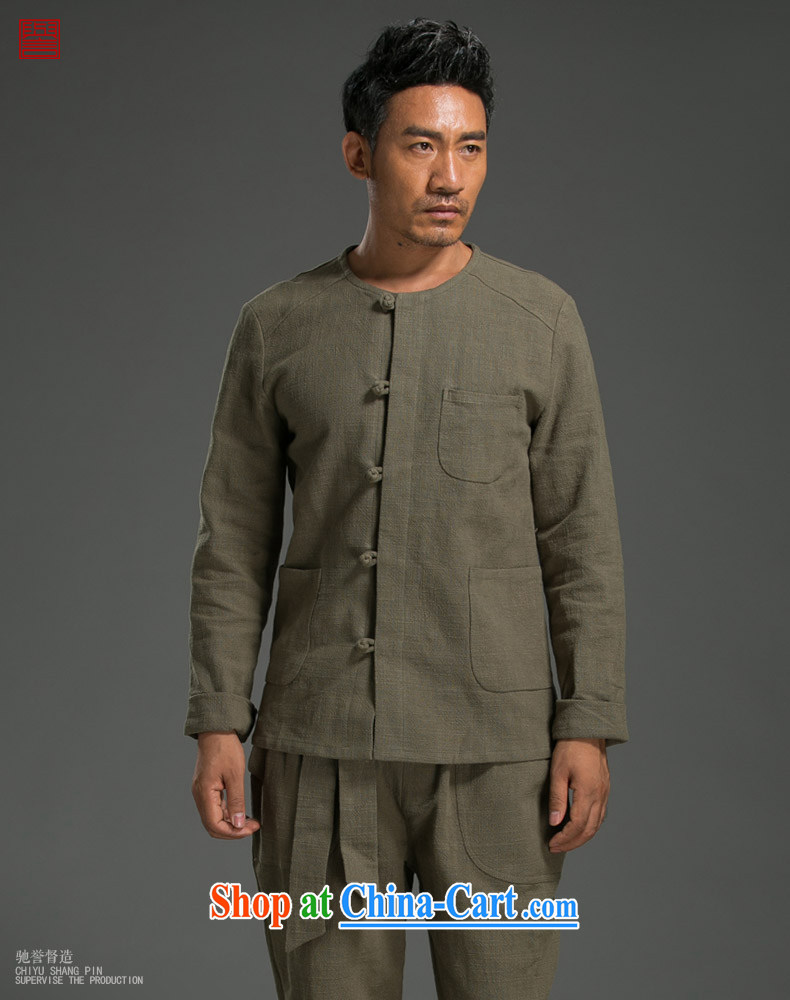 Internationally renowned Chinese wind the tray snaps shirt autumn and the new retro men's beauty ethnic wind linen long-sleeved shirt wine red (XL) pictures, price, brand platters! Elections are good character, the national distribution, so why buy now enjoy more preferential! Health