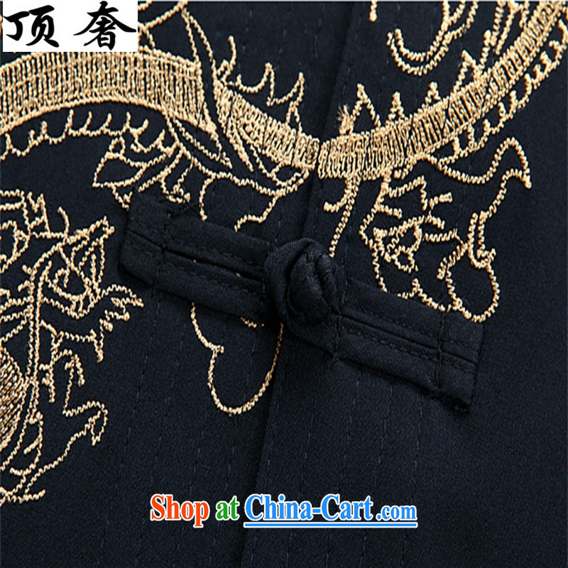 Top Luxury men Tang with long-sleeved set loose version for the shirt China wind-tie Han-white embroidery Tang replace Kit father Blue Kit 43/190, and with the top luxury, shopping on the Internet