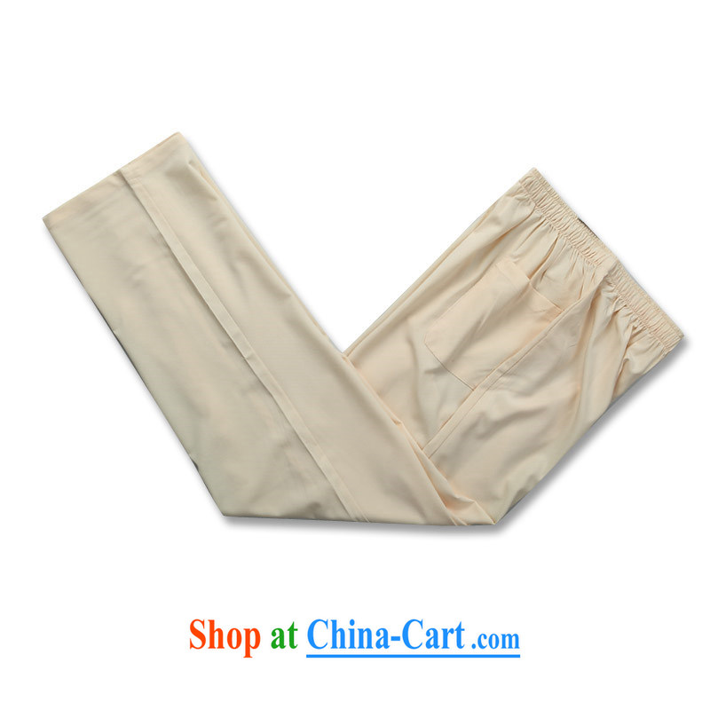 Putin's European men Tang replace short-sleeved Kit spring and summer with long-sleeved older persons in Tang replace short-sleeve kit Cornhusk yellow package XXXL, Beijing (JOE OOH), shopping on the Internet