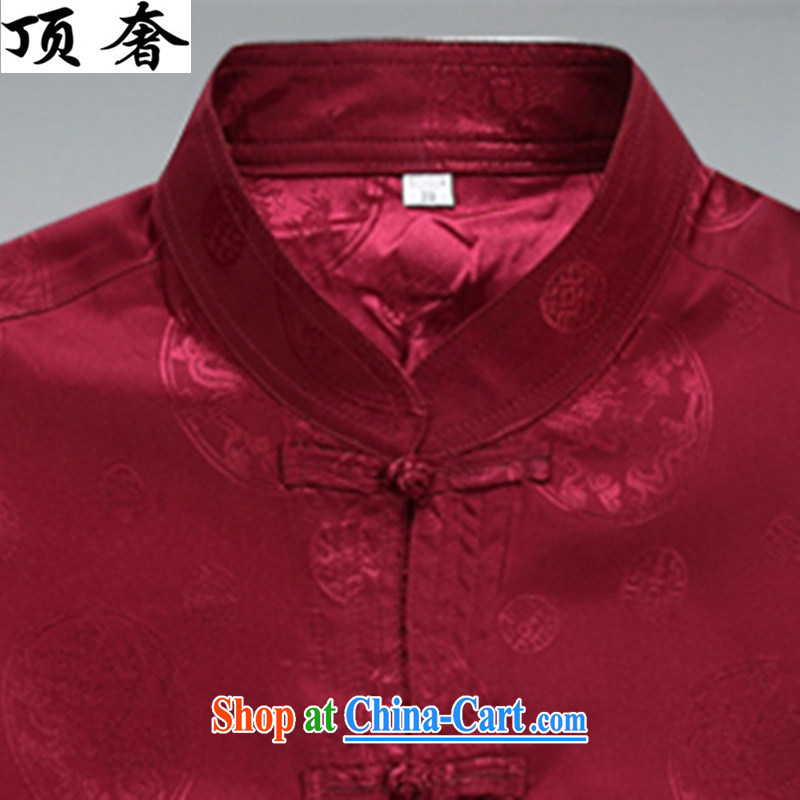 Top Luxury Spring and Autumn 2015, men's Tang is set loose version, for the charge-back red thin, served the Life dress, older Tang package red package XXXL/190, the top luxury, shopping on the Internet