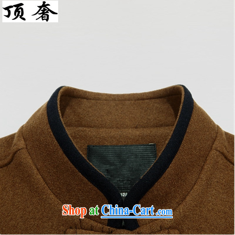 Top Luxury 2015 autumn and winter, men's wool that Tang on the collar thick Chinese wind male T-shirt father the Life dress Han-chinese Chinese classic black 190, and with the top luxury, shopping on the Internet