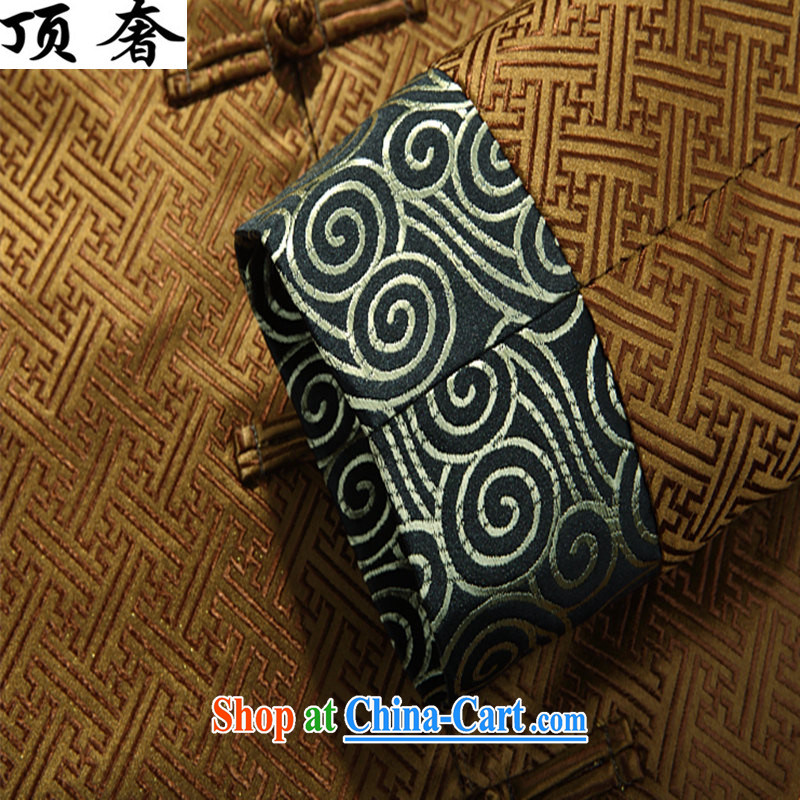 The top luxury silk Chinese Spring 2015 new, jacket for men's Chinese long-sleeved Chinese wind men's jackets Chinese Dress Casual Chinese T-shirt Gold T-shirt XXXL/190 and the top luxury, shopping on the Internet