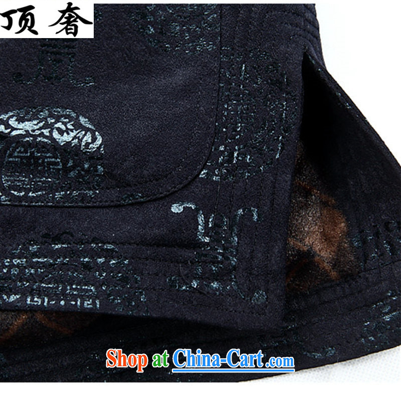 Top Luxury autumn and winter, Chinese T-shirt loose version, for the charge-back men's jackets, old men Chinese jacket father with Chinese Han-old Chinese red the lint-free cloth XXXL/190 and the top luxury, shopping on the Internet