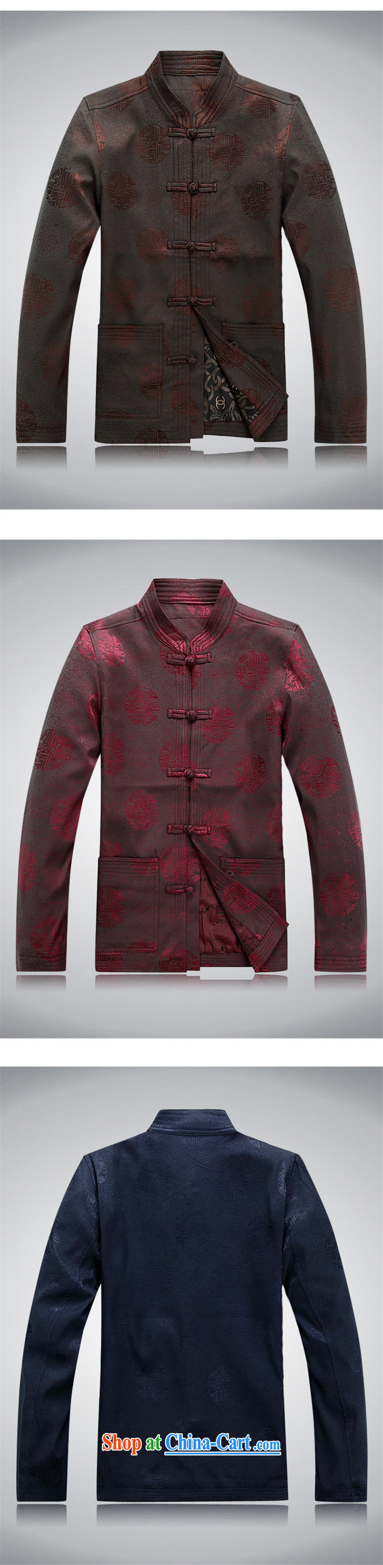 Top Luxury 2015 new Chinese, for men with short spring jacket long-sleeved T-shirt birthday congratulations service blue men Han-jacket men's father red, Tang replace XXXL/190 pictures, price, brand platters! Elections are good character, the national distribution, so why buy now enjoy more preferential! Health