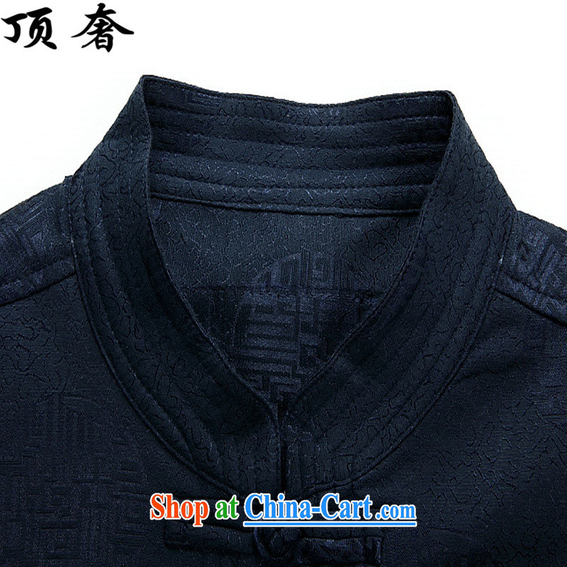 The top luxury 2015 new Chinese, for men's Chinese Spring jacket long-sleeved T-shirt birthday congratulations service blue men Han-jacket men's father red, Tang replace XXXL/190, with the top luxury, shopping on the Internet