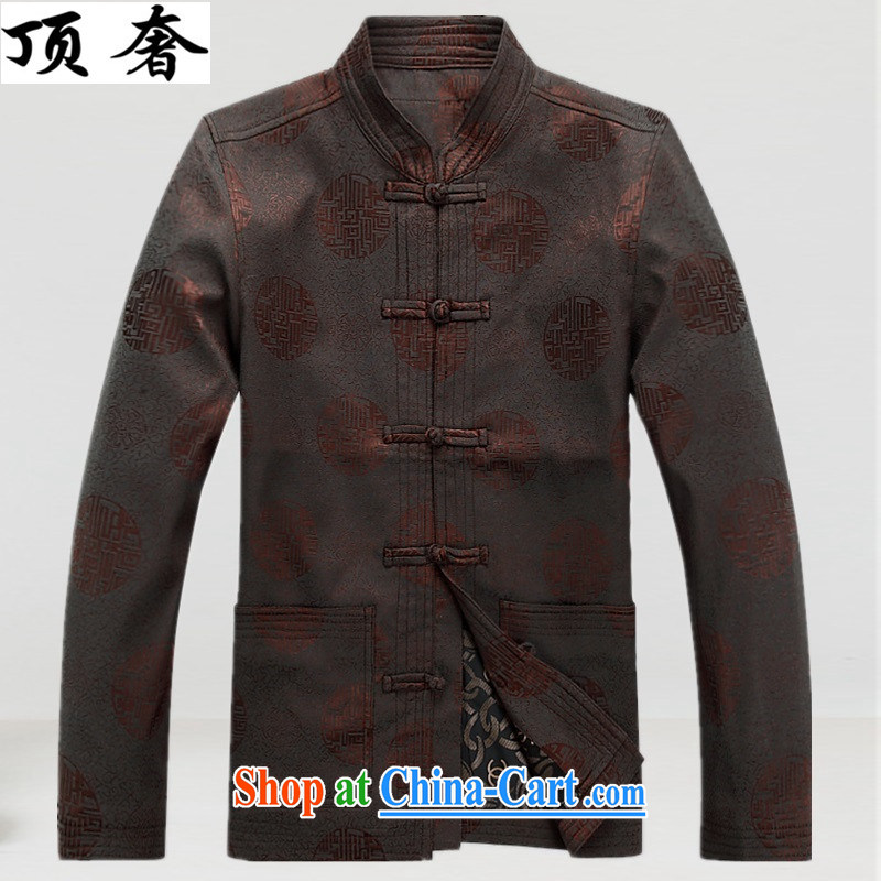 The top luxury autumn and winter, New China, for men Tang jackets are in older long-sleeved birthday congratulations service men Han-grandfather jacket dresses with Chinese tea, color T-shirt XXXL_190