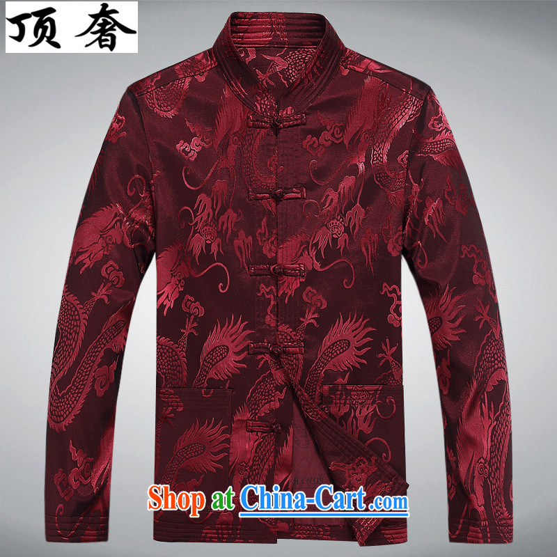 Top Luxury autumn and winter, and Tang is set up for the charge-back men's jackets T-shirt Dad loaded the older Chinese jacket Chinese blue Han-red package XXXL/190, with the top luxury, online shopping