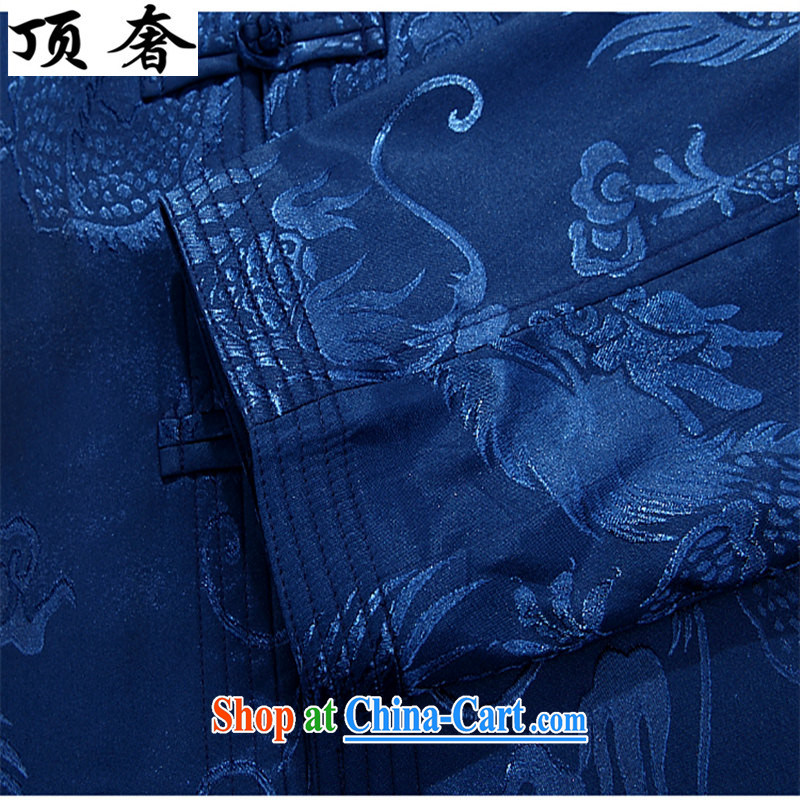Top Luxury autumn and winter, and Tang is set up for the charge-back men's jackets T-shirt Dad loaded the older Chinese jacket Chinese blue Han-coffee-colored package XXXL/190 and the top luxury, shopping on the Internet