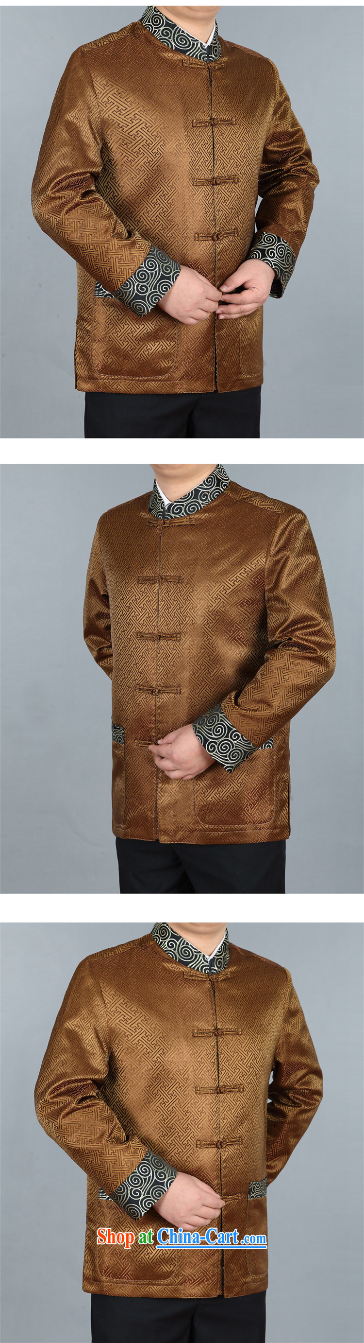 The people more than the old Beijing Chinese Winter, men Han-Long-Sleeve Tang jackets thick Chinese men's thick cotton clothing China wind dress retro jacket gold XXXL pictures, price, brand platters! Elections are good character, the national distribution, so why buy now enjoy more preferential! Health