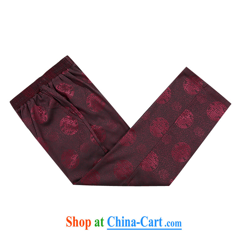 The chestnut mouse (Spring/Summer New China wind elders jogging Chinese men's short pants with upmarket older red 4 XL/190