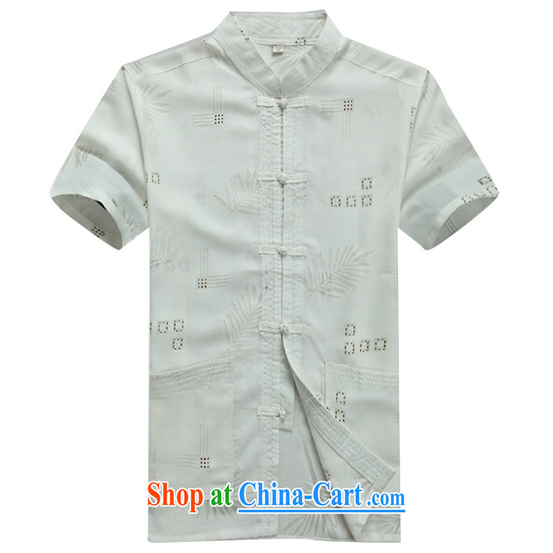 The Beijing Summer New New China wind cool breathable sweat-wicking short-sleeved Chinese men Tang service shirt beige XXXL/190, Beijing (JOE OOH), online shopping