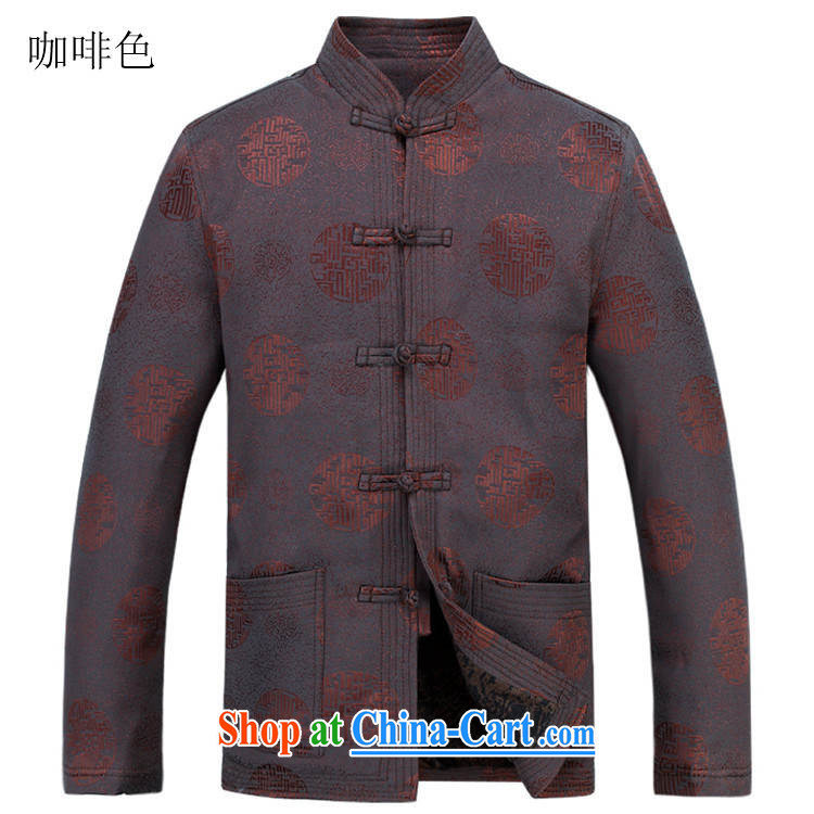 The chestnut mouse Tang with long-sleeved brown men and new men's jackets jacket National wind-buckle older Chinese T-shirt Dad jacket men Tang with brown XXXL/190 pictures, price, brand platters! Elections are good character, the national distribution, so why buy now enjoy more preferential! Health