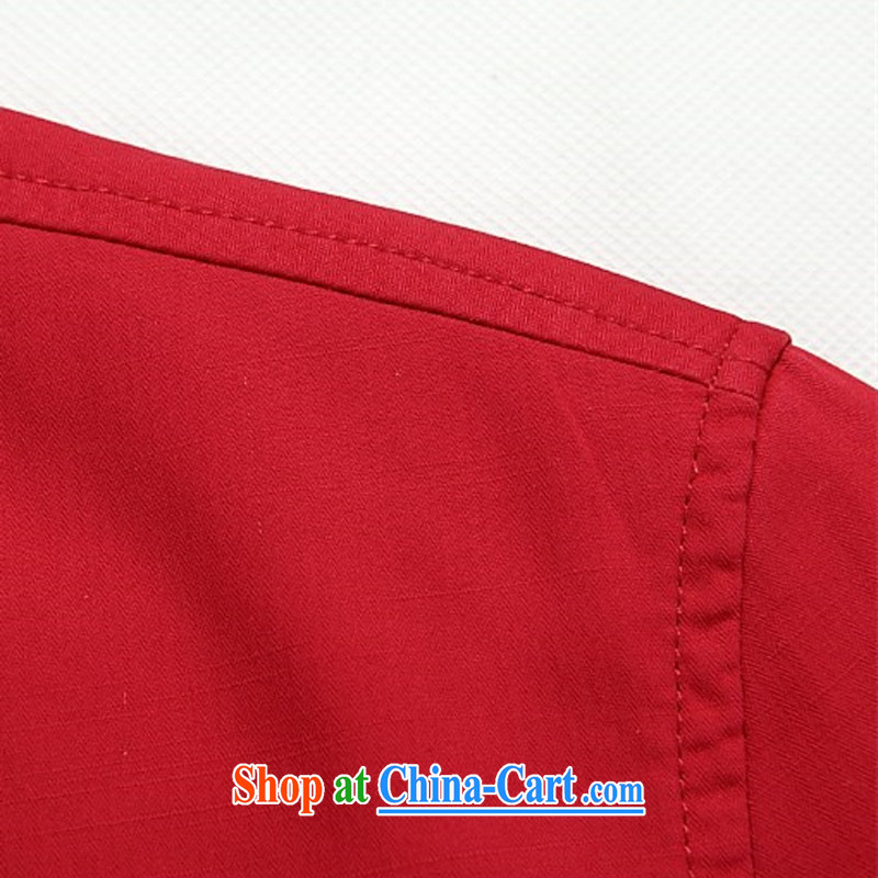 The chestnut mouse, Spring Loaded Tang breathable, older jacket jacket summer long-sleeved T-shirt, for men's shirts Tang with long-sleeved father red XXXL/190, the chestnut mouse (JINLISHU), online shopping