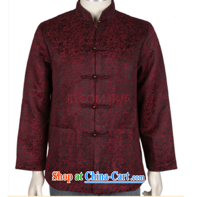The stakeholders in the Cloud elderly Chinese father my grandfather was loaded with autumn and long-sleeved T-shirt Chinese jacket DY 1369 deep red L stakeholders, the cloud (YouThinking), and, on-line shopping