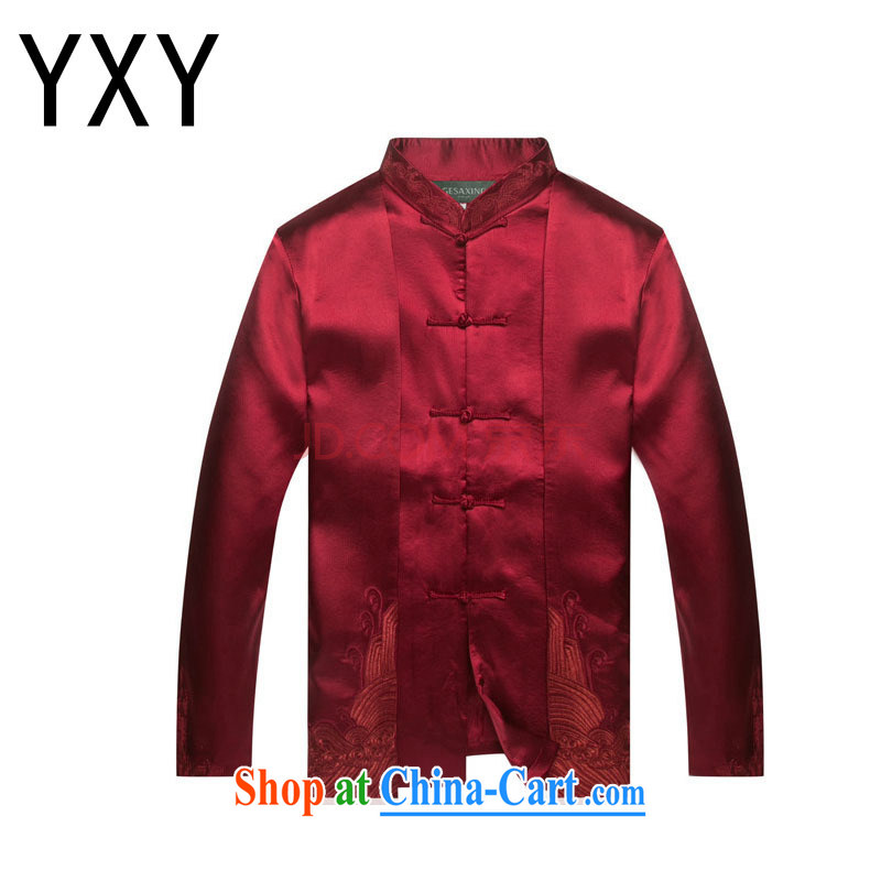 Stakeholders line cloud Chinese clothing Chinese Dress at DY 7712 deep red L