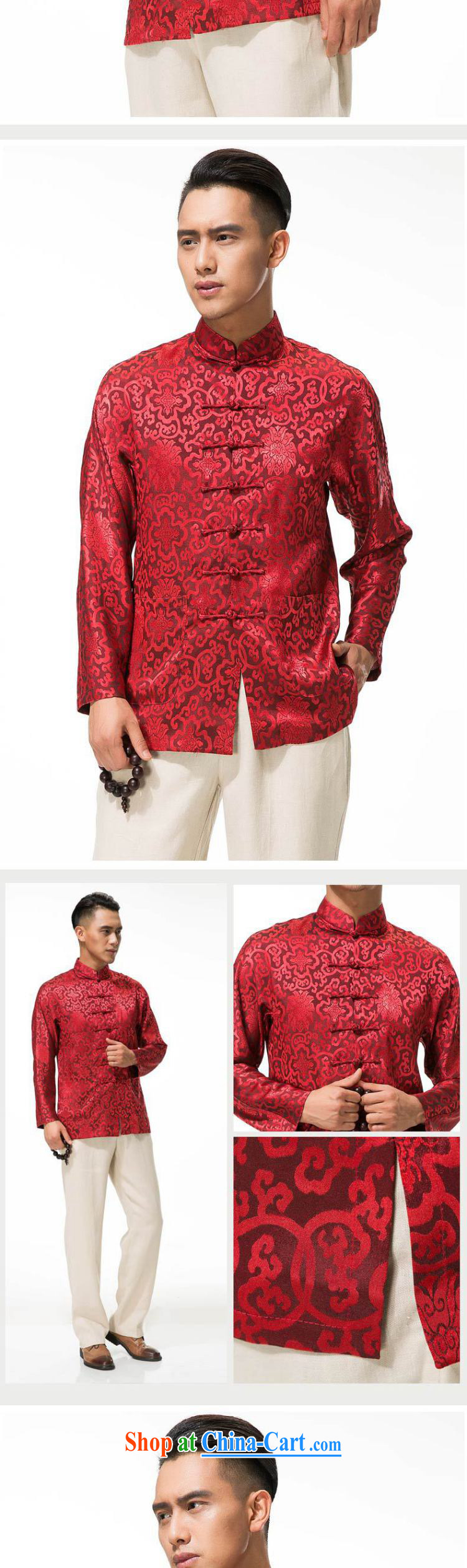 Stakeholders line cloud cotton Ma Man Tang jackets spring and thick, and manually for the tie long-sleeved men Tang replace DY 003 red L pictures, price, brand platters! Elections are good character, the national distribution, so why buy now enjoy more preferential! Health