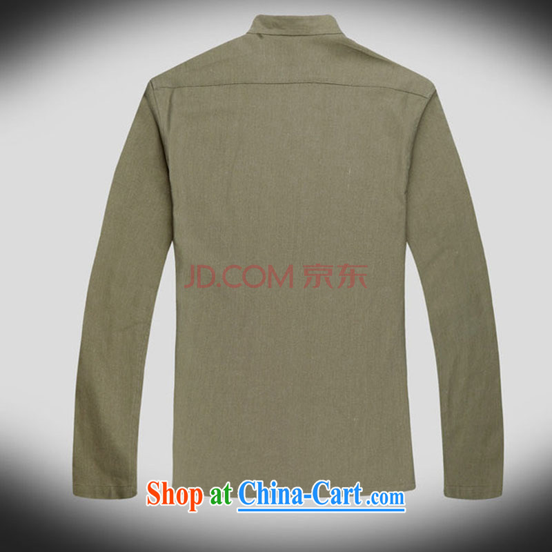 At stake line cloud long-sleeved China wind up for Chinese improved leisure tang on the code and national costumes, Autumn DY 053 army green M stakeholders, the cloud (YouThinking), and, on-line shopping