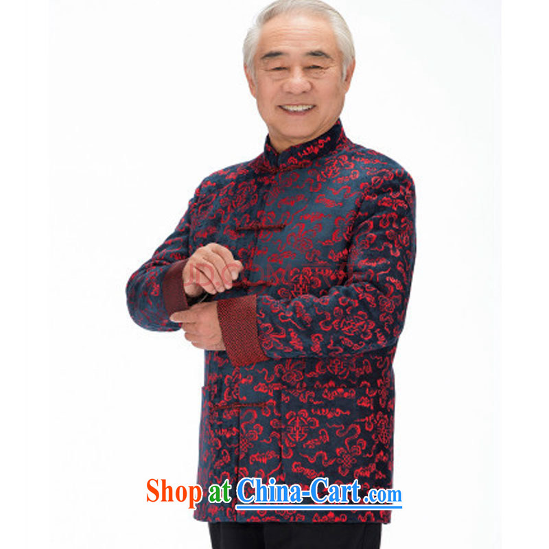 The stakeholders in the Cloud old men sauna silk Tang replace leisure thick long-sleeved Tang replace Xiangyun ethnic wind men's Chinese jacket DY 1316 red L stakeholders, the cloud (YouThinking), and, on-line shopping