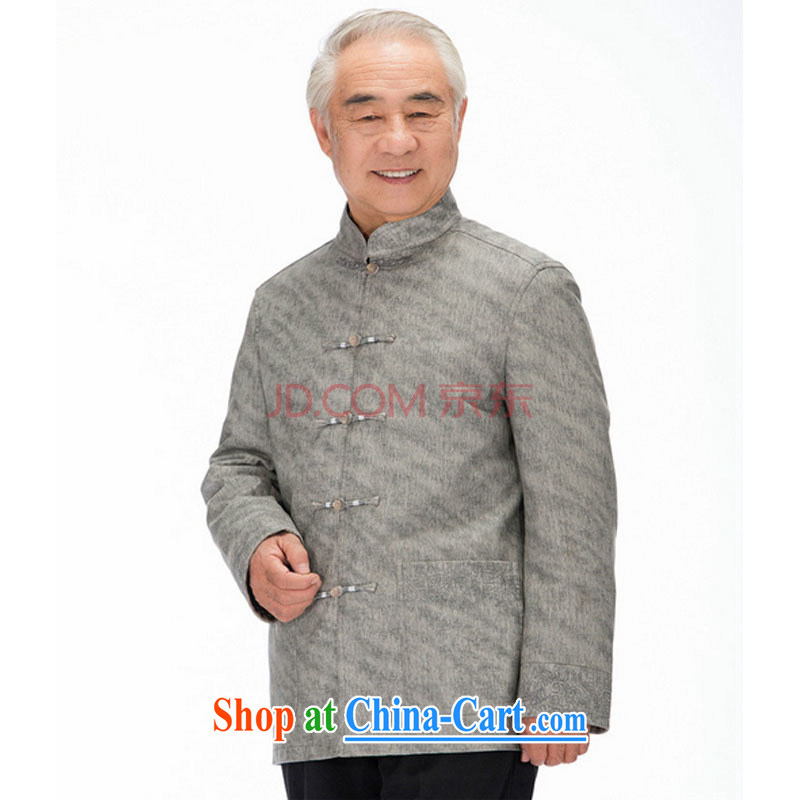 Stakeholders line cloud Chinese improved Korean Ma ribbed men washable leather Chinese elderly in leisure PU jacket DY 1322 light gray M stakeholders, the cloud (YouThinking), and, on-line shopping