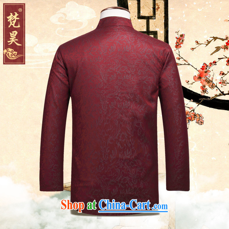 Van Gogh Ho Tang on men's autumn jacket, For manually-Tie long-sleeved red Tang replace W 899 red 4 XL, Van Gogh's annual, online shopping