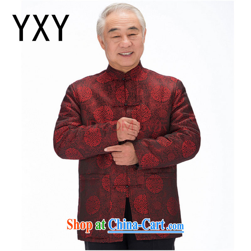 Stakeholders line cloud old men Tang jackets elderly Chinese large code thick Chinese parka brigades