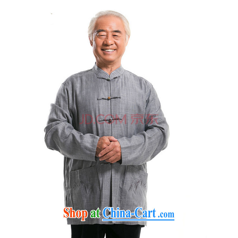 The stakeholders in the Cloud elderly father men Long-Sleeve father Tang jackets National Service middle-aged Chinese men and autumn DY loaded 0792 - 1 gray M stakeholders, the cloud (YouThinking), and, on-line shopping