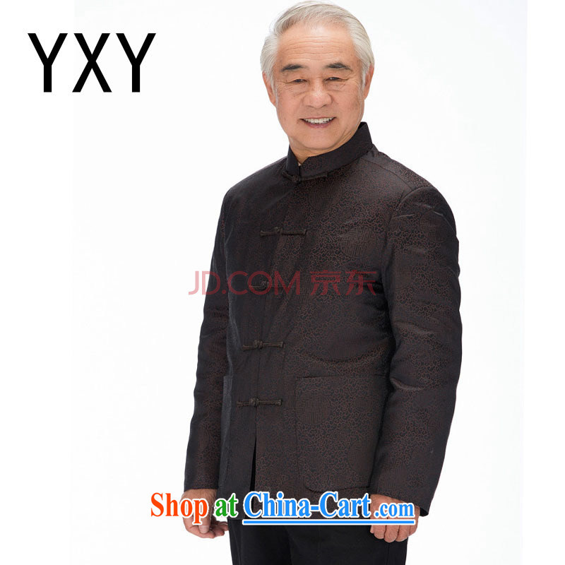 Stakeholders the cloud men's Chinese cotton Chinese leader, emulation, the Cotton Chinese Chinese cotton suit Male DY 1212 brown M